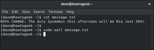 Cómo usar el comando Wall en Linux